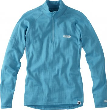 Madison - Women's Isoler Merino Long Sleeve Zip-Neck Aqua Blue