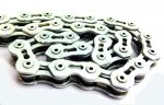 KMC - Single Speed Bicycle Chain White