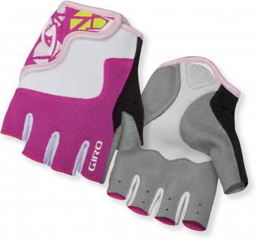 Giro - Bravo Junior Mitts White/Pink XSmall