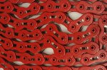 KMC - Single Speed Bicycle Chain Red