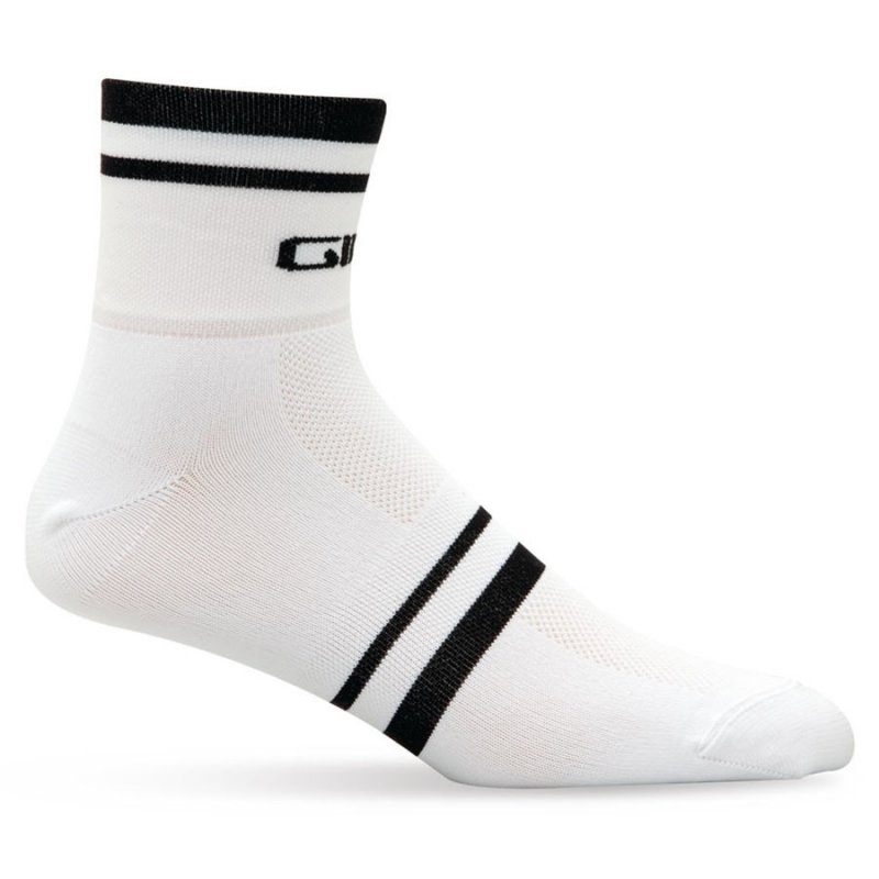 Giro - Standard Racer 3in Sock White with Black Stripe - Click Image to Close