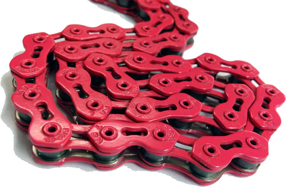 KMC - Single Speed Bicycle Chain Pink - Click Image to Close