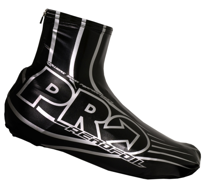 Pro - Aerofoil Aerodynamic Lycra Shoe Cover Black - Click Image to Close